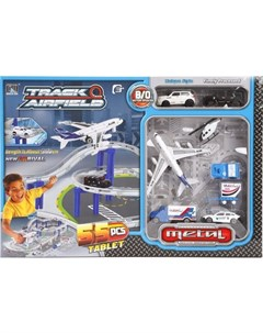 Автотрек Аэропорт 55 деталей Наша игрушка