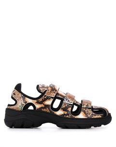 сандалии со змеиным принтом Martine rose