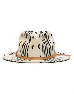 шляпа федора Zeal с зебровым принтом Nick fouquet
