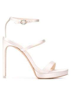 Атласные босоножки на высоком каблуке Sophia webster