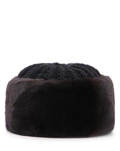 Вязаная шапка с мехом норки Furland