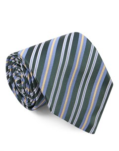 Шелковый галстук в полоску Isaia