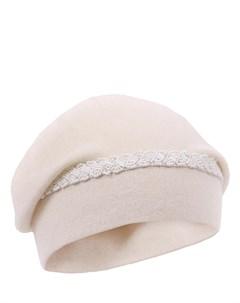 Кашемировая шапка с декором Re vera