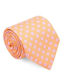 Шелковый галстук с узором Isaia