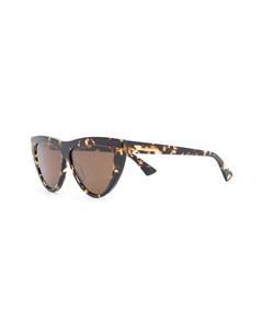 Солнцезащитные очки в оправе кошачий глаз черепаховой расцветки Bottega veneta eyewear