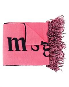 жаккардовый шарф с логотипом Msgm kids
