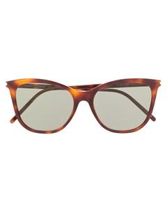 Солнцезащитные очки в оправе черепаховой расцветки Saint laurent eyewear