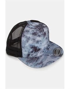 Бейсболка Used Camo Trucker Dark Grey Black Mesh O S Flexfit