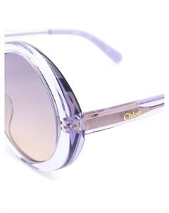 Солнцезащитные очки в прозрачной оправе Chloé kids