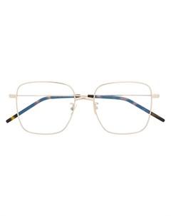 Очки SL314 в квадратной оправе Saint laurent eyewear