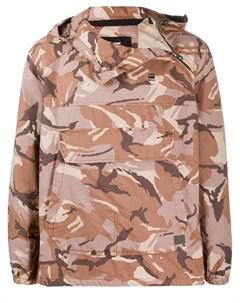 Куртка пуловер с камуфляжным принтом G-star raw