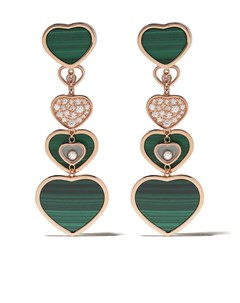 золотые серьги Happy Hearts с бриллиантами Chopard