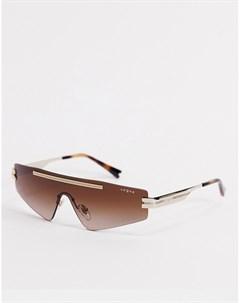 Белые солнцезащитные очки маска Vogue x Millie Bobby Brown Белый