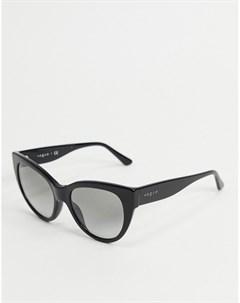 Черные солнцезащитные очки кошачий глаз Vogue Черный