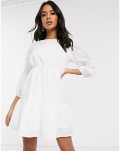 Кремовое платье мини Ax paris