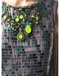 Коктейльное платье с пайетками и вставками Matthew williamson