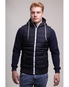 Жилет Small Bubble Hooded Vest Black White S Urban classics