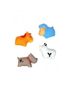 Игрушка для ванной Сельские животные Овечка Коровка Собачка и Лошадка 4 шт Яигрушка