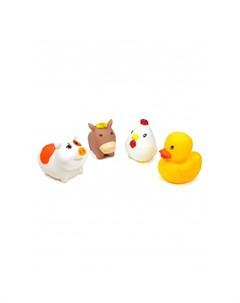 Игрушка для ванной Сельские животные Уточка Курочка Лошадка и Поросенок 4 шт Яигрушка
