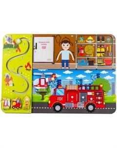 Деревянная игрушка Бизиборд Пожарная служба Woodland