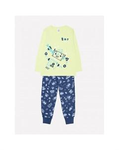 Пижама для девочки Робот лонгслив и брюки Crockid