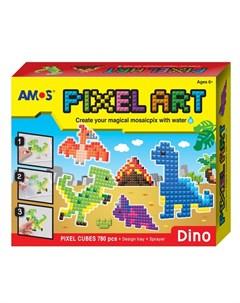 Аква мозаика из пикселей Динозавры 12 24 Amos