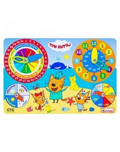 Деревянная игрушка Бизиборд Календарь погоды Три кота Alatoys