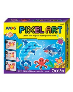 Аква мозаика из пикселей Океан 12 24 Amos