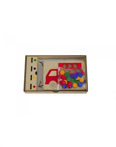Деревянная игрушка Развивающая мозаика сортер с карточками Грузовики Raduga kids