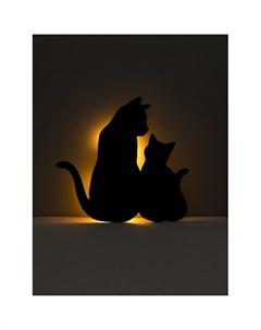 Ночник 125 Кошачья семейка напольный настольный Лючия