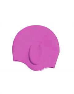 Шапочка для плавания силиконовая с выемками для ушей Bradex