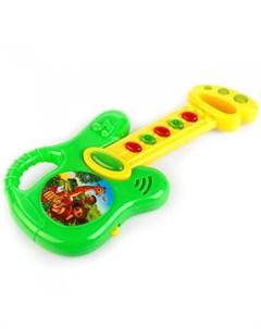 Музыкальный инструмент Электрогитара свет звук 20 любимых детских песен Умка