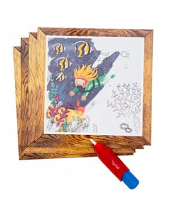 Раскраска Набор для рисования водой Океан Tiger tribe
