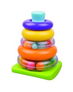 Развивающая игрушка Пирамидка 5 колец Red box