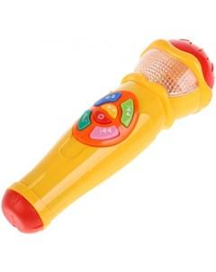 Музыкальный инструмент Микрофон 10 песен и 10 потешек Умка