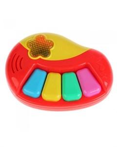 Музыкальный инструмент Обучающее пианино 24 потешки и песни Умка