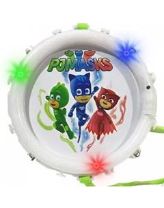 Музыкальный инструмент Барабан со световыми эффектами Герои в масках (pj masks)