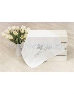 Крестильное полотенце с крестом 130х70 12 702 Alivia kids