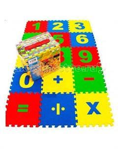Игровой коврик пазл Математика 20x20x0 9 cм Eco cover