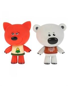 Набор из 2 х игрушек для ванны Мимимишки Белая Тучка и Лисичка Капитошка