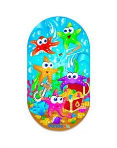 Коврик Kids для ванны Морские Звёздочки 69х39 см Pondo