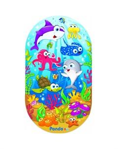 Коврик Kids для ванны Морские Обитатели 69х39 см Pondo