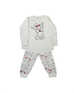 Пижама для девочки Щенок Белый слон