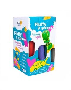 Набор для лепки Воздушный пластилин Fluffy 8 цветов Genio kids