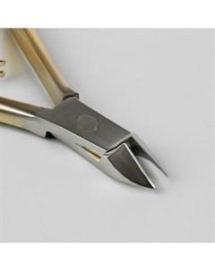 Кусачки маникюрные для кутикулы двойная пружина 10 см длина лезвия 11 мм цвет золотой серебристый Queen fair