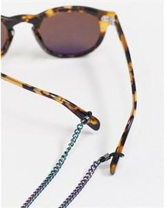 Солнцезащитные очки с переливающейся цепочкой DesignB Designb london
