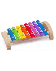 Музыкальный инструмент Ксилофон 8 тонов Мир деревянных игрушек