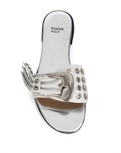 Босоножки с заклепками и пряжками Toga pulla