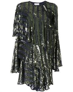 Ярусное платье Tina асимметричного кроя с пайетками Osman