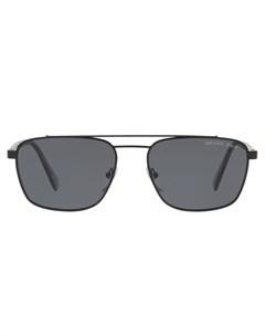 Затемненные солнцезащитные очки авиаторы Prada eyewear